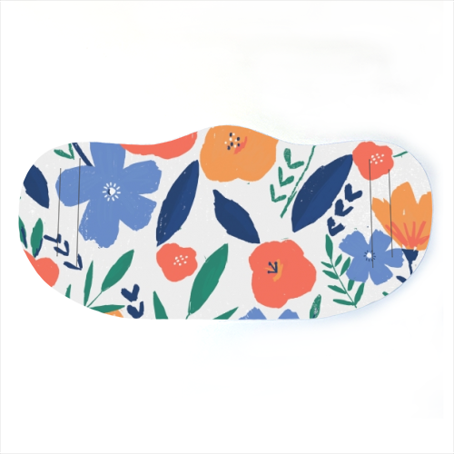 bold minimal flower pattern - washable face mask by lauradidthis