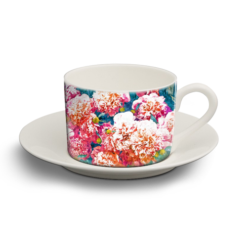 Blossoming Love - personalised cup and saucer by Uma Prabhakar Gokhale