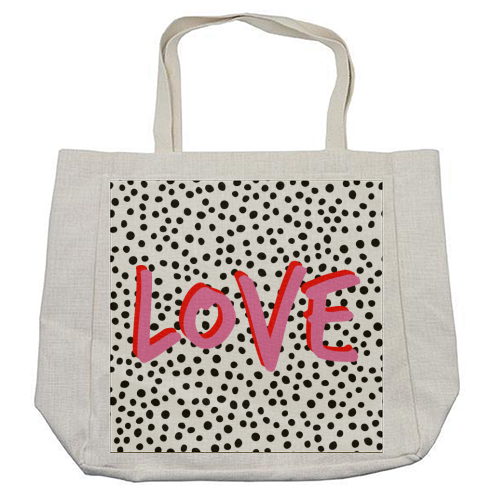 LOVE Polka Dot - cool beach bag by The 13 Prints