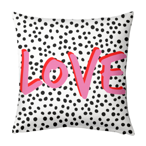 LOVE Polka Dot - designed cushion by The 13 Prints