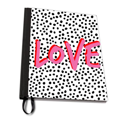 LOVE Polka Dot - designed notebook by The 13 Prints