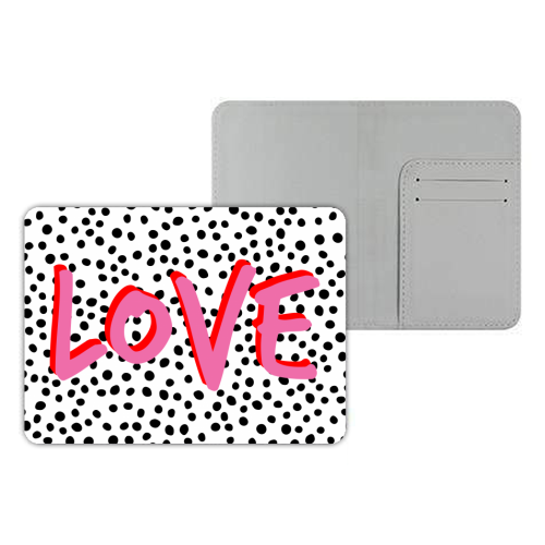 LOVE Polka Dot - designer passport cover by The 13 Prints