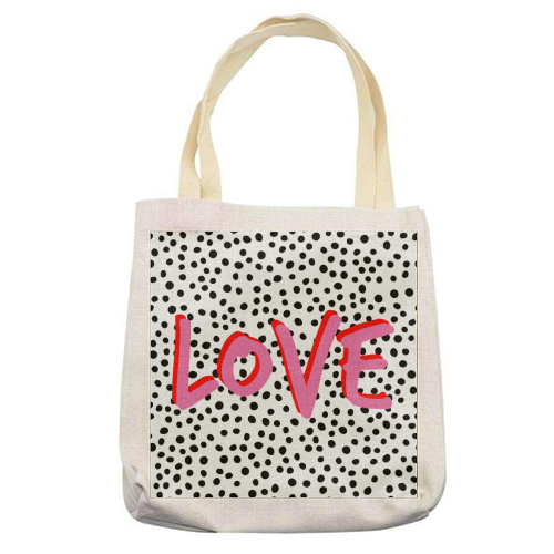 LOVE Polka Dot - printed tote bag by The 13 Prints
