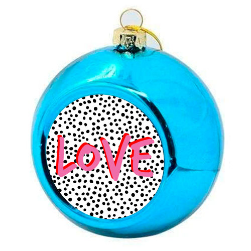 LOVE Polka Dot - colourful christmas bauble by The 13 Prints