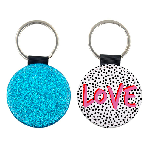 LOVE Polka Dot - personalised leather keyring by The 13 Prints