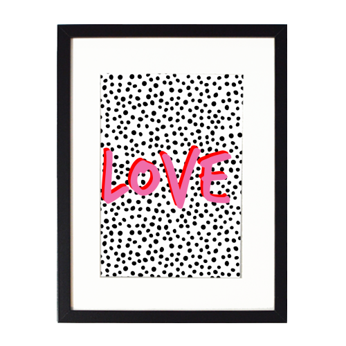 LOVE Polka Dot - printed framed picture by The 13 Prints