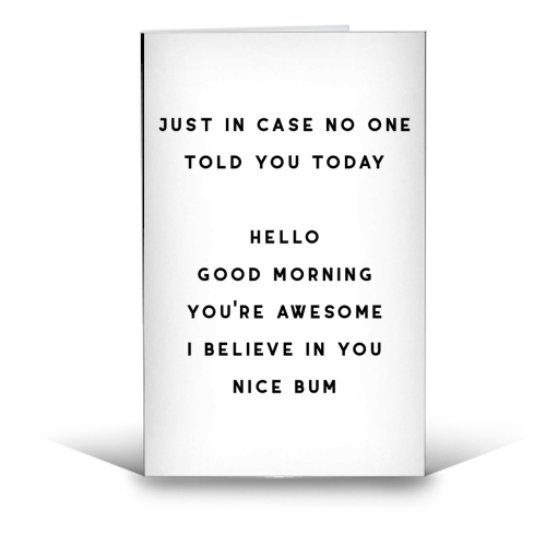 Nice Bum - funny greeting card by The 13 Prints