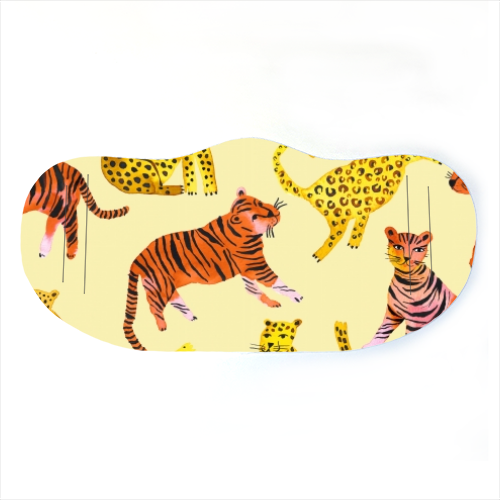 Safari Tigers and Leopards - washable face mask by Ninola Design