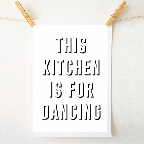 This Kitchen Is For Dancing - original print by The 13 Prints