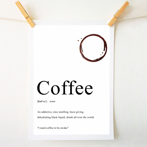 Coffee Definition - original print by The 13 Prints