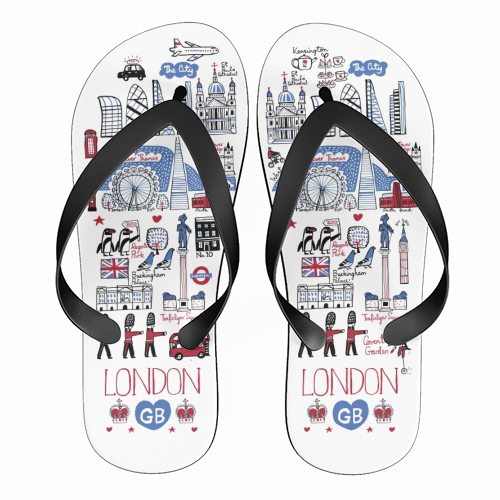 London - funny flip flops by Julia Gash