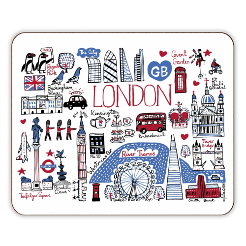 London - photo placemat by Julia Gash