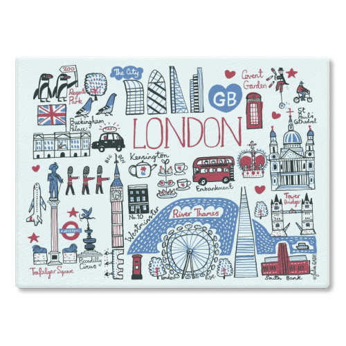 London - glass chopping board by Julia Gash