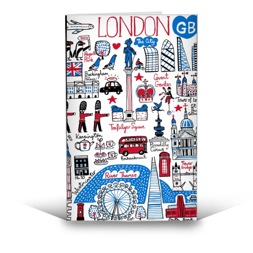 London - funny greeting card by Julia Gash