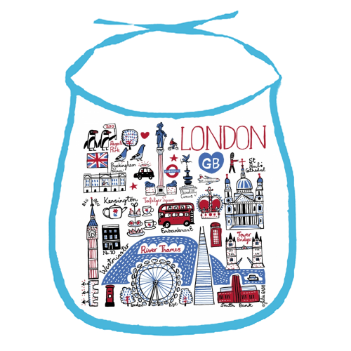 London - funny baby bib by Julia Gash