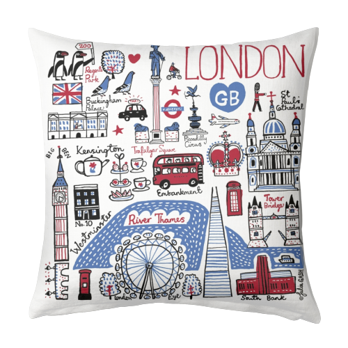 London - designed cushion by Julia Gash