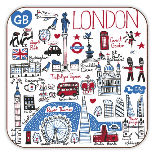 London - personalised drink coaster by Julia Gash