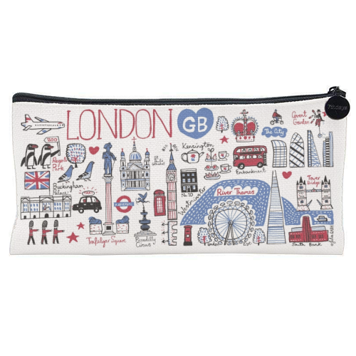 London - unique pencil case by Julia Gash