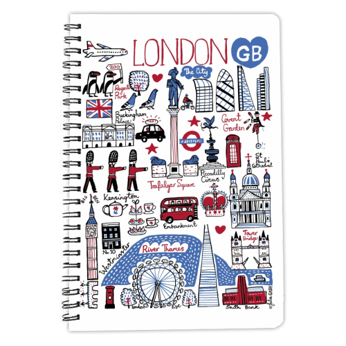 London - designed notebook by Julia Gash