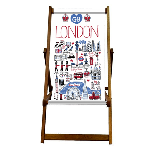 London - canvas deck chair by Julia Gash