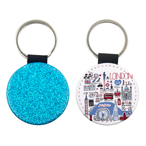 London - personalised leather keyring by Julia Gash