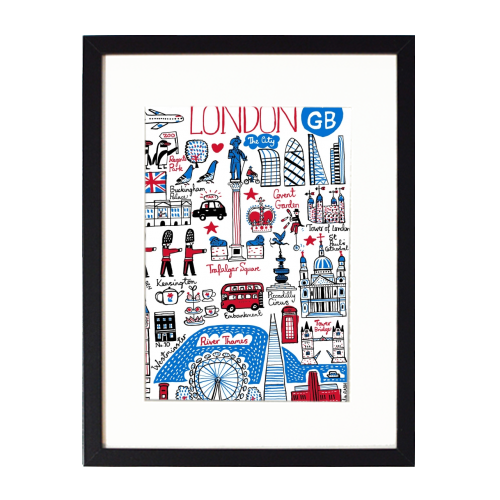London - printed framed picture by Julia Gash
