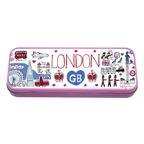 London - tin pencil case by Julia Gash