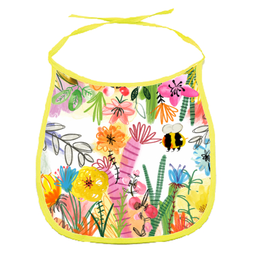 Busy Bee - funny baby bib by Pen and Gwyn