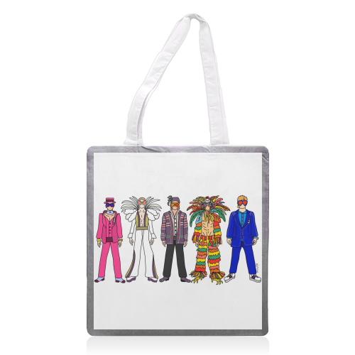Elton - printed tote bag by Notsniw Art
