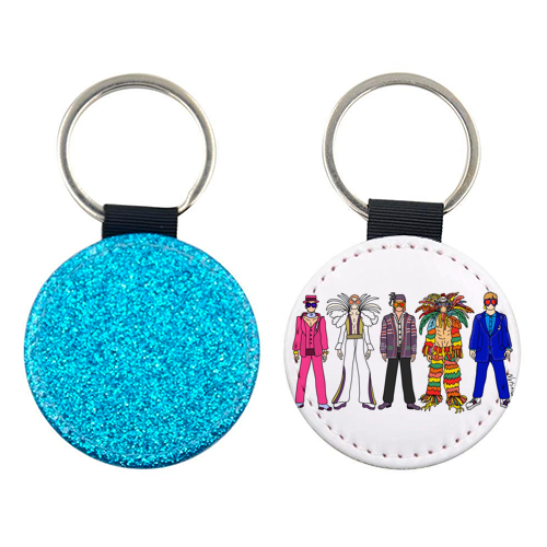 Elton - personalised picture keyring by Notsniw Art