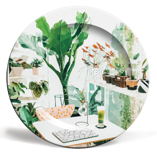 Junglow - personalised dinner plate by Uma Prabhakar Gokhale