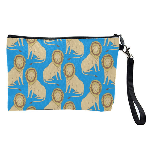 Lion - pretty makeup bag by Yazmin Brooks
