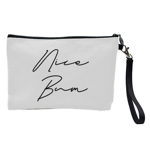 Nice Bum - pretty makeup bag by Sarah Talbot-Goldman