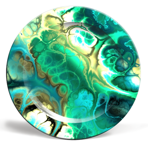 Fractal Marble - ceramic dinner plate by Kaleiope Studio