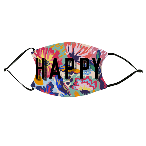 HAPPY - washable face mask by The 13 Prints