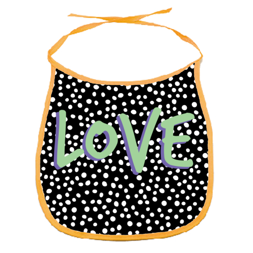 LOVE Print - funny baby bib by The 13 Prints