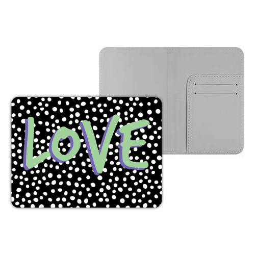 LOVE Print - designer passport cover by The 13 Prints