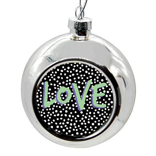 LOVE Print - colourful christmas bauble by The 13 Prints