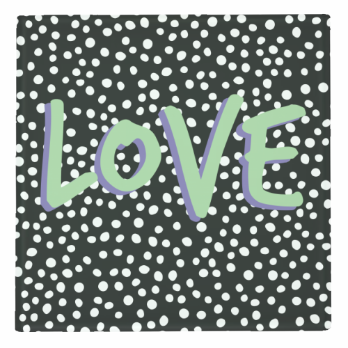 LOVE Print - personalised drink coaster by The 13 Prints