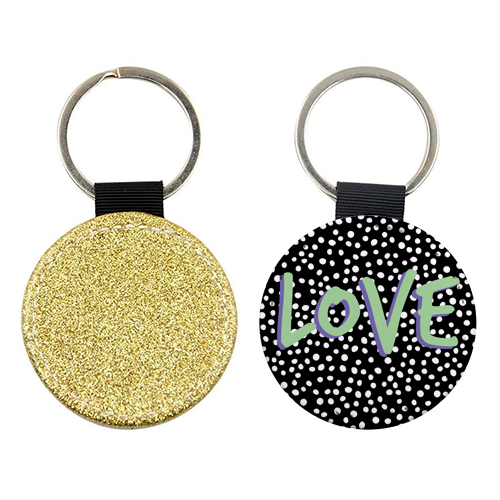 LOVE Print - personalised leather keyring by The 13 Prints