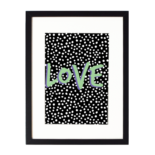 LOVE Print - printed framed picture by The 13 Prints