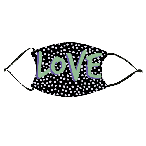 LOVE Print - washable face mask by The 13 Prints