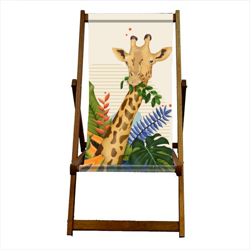 The Giraffe - canvas deck chair by Fatpings_studio
