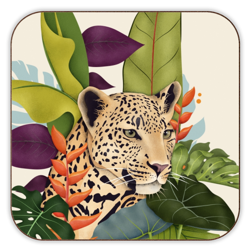 The Jaguar - personalised drink coaster by Fatpings_studio