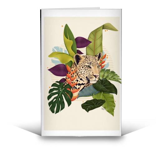 The Jaguar - funny greeting card by Fatpings_studio