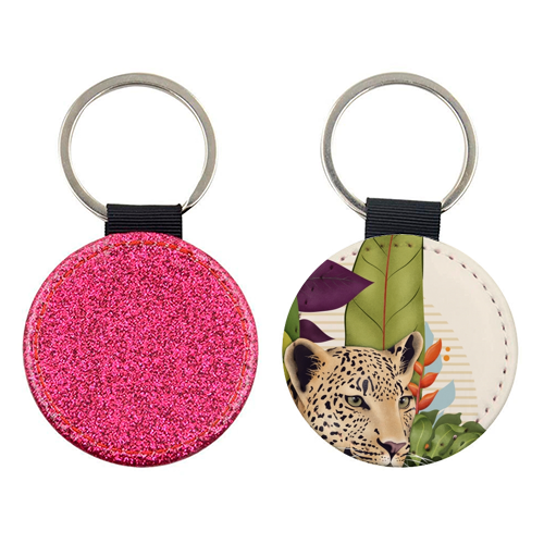 The Jaguar - personalised picture keyring by Fatpings_studio