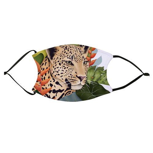 The Jaguar - washable face mask by Fatpings_studio