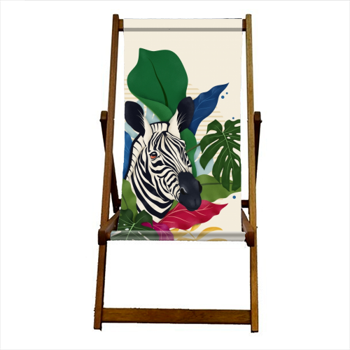 The Zebra - canvas deck chair by Fatpings_studio