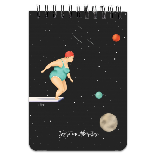 Yes To New Adventures - designed notebook by Fatpings_studio