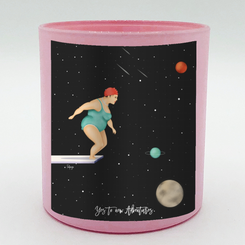 Yes To New Adventures - Candle by Fatpings_studio